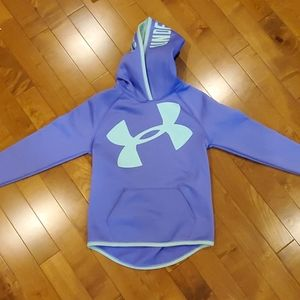 Purple and mint green under armour hoodie